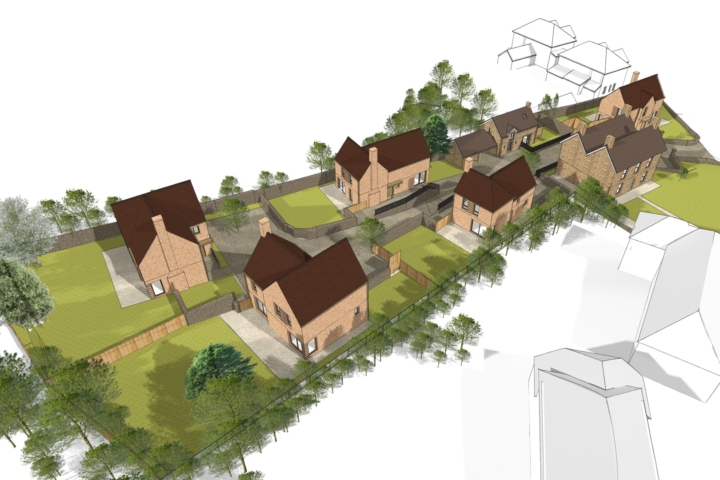 Planning application for infill development in Portishead