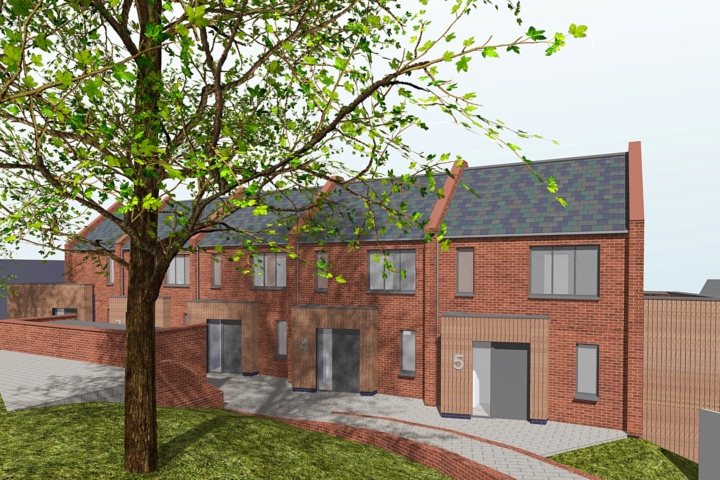 Planning application for new houses on backland site